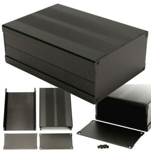 150-105-55mm-Aluminum-PCB-Instrument-Box-Enclosure-Electronic-Project-Case-Black