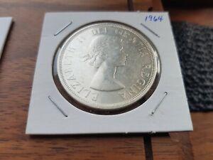 1964-Canada-Silver-One-dollar-Elizabeth-II