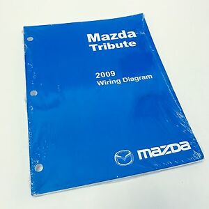 NEW 2009 Mazda Tribute SUV Factory OEM Wiring Diagram ...