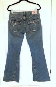Distressed True Religion Denim Lavaggio medio Joey Jeans wXq4ArSX