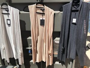 0eb4d41bc3da70 Image is loading NWT-Ladies-Long-Sleeveless-Cardigan-by-Bettina-Liano-