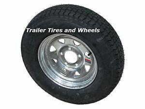 2 Boat Trailer Tires Wheels 185 80 13 Loadstar Lrd Galvanized