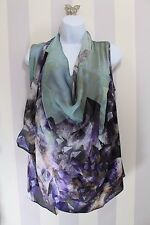 Ted Baker Unoma Silk Crystal Print Cowled Multiway Top Floaty  2 8 10