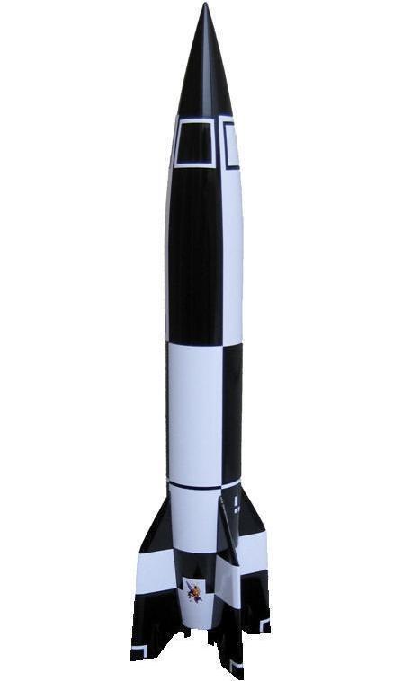 Missili v2  modello  dettagliato ACCIAIO MASSICCIO - 4 di aggregazione, primo oggetto nello spazio