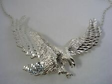 EAGLE PENDANT WITH HIGH POLISHED DIAMOND CUT FINISH IN STERLING SILVER