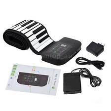 Professional 88 Keys Flexible Roll Up Piano Keyboard with Sustain Pedal G8I9