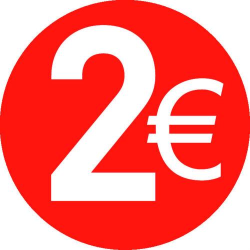 Selbstklebeetiketten 13mm Leuchtend Rot Euro € Preis Punkt Aufkleber