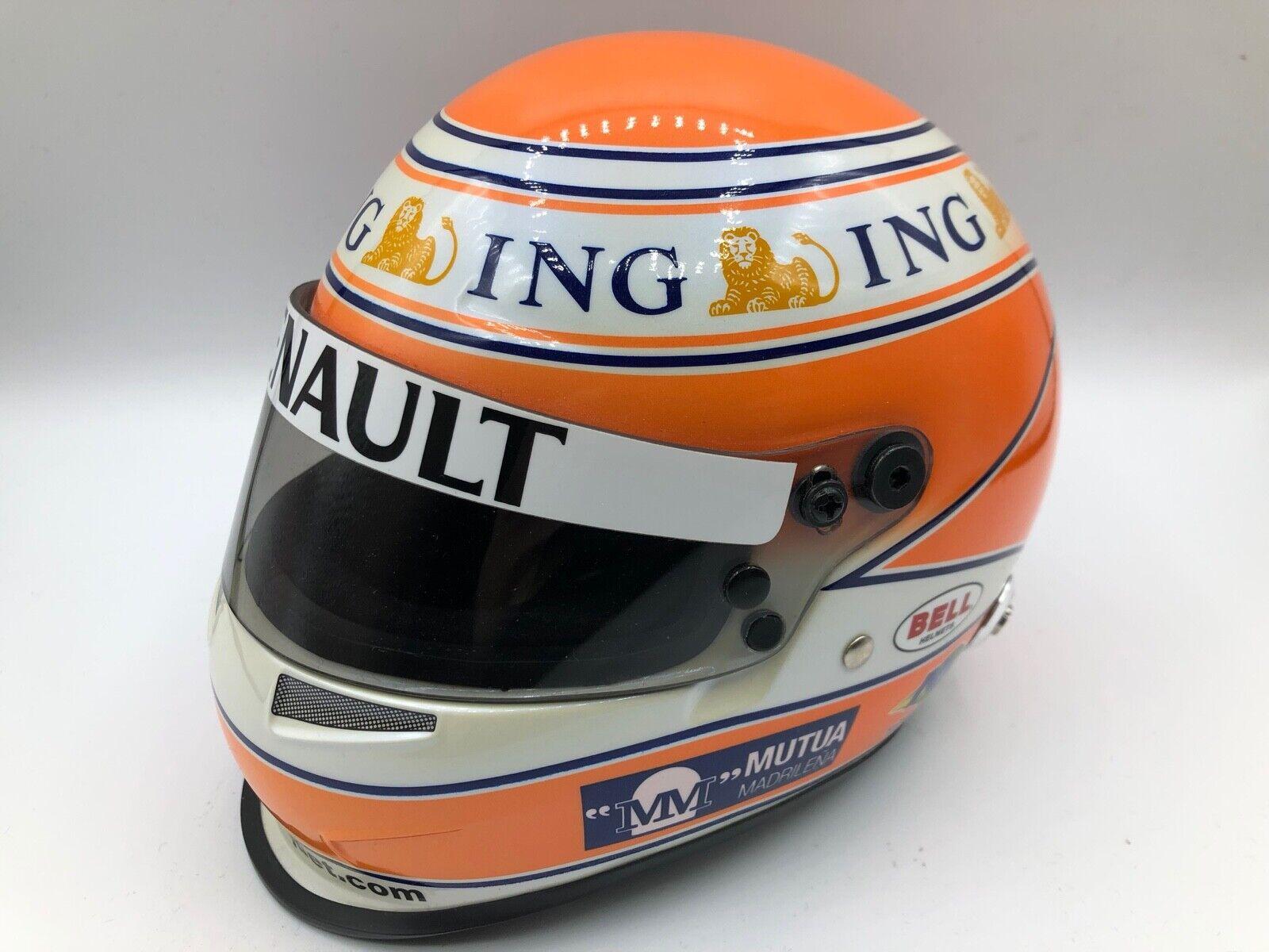 F1 1 2 MINI HELMET Nelson Piquet Renault F1 squadra
