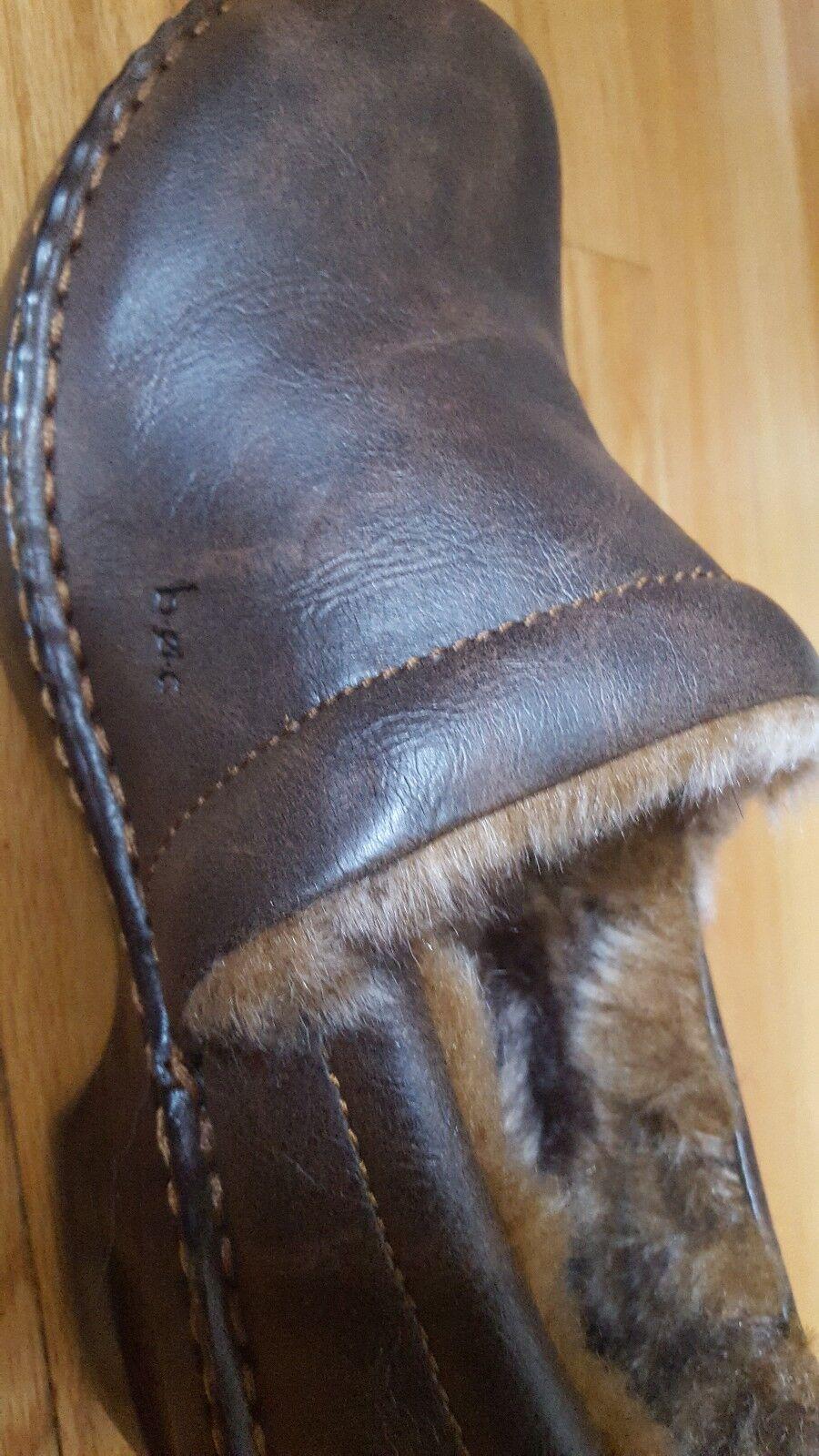 B•ø•c BORN CONCEPT braun Leather Faux Faux Faux Fur Lined Clogs schuhe Größe 7 - 7.5 NEW 4e5212