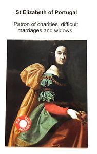 Saint Elizabeth of Portugal relic card, patron of