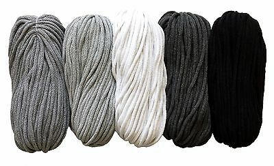 cotton yarn 5mm crochet knitting cord rope macrame 50m 100m 200m