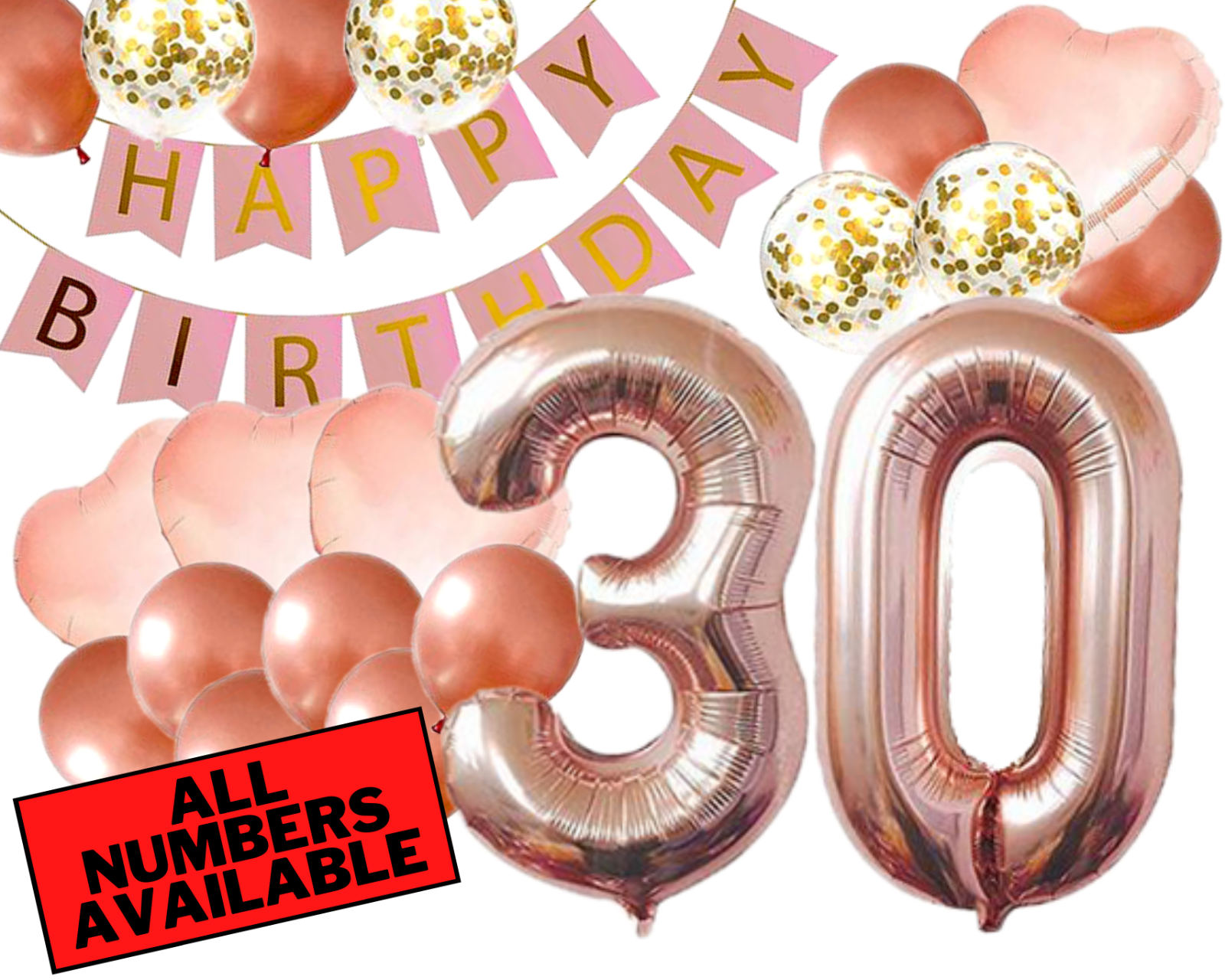 30th Birthday Decorations Party Supplies Gifts For Women Her Rose Gold Number For Sale Online Ebay