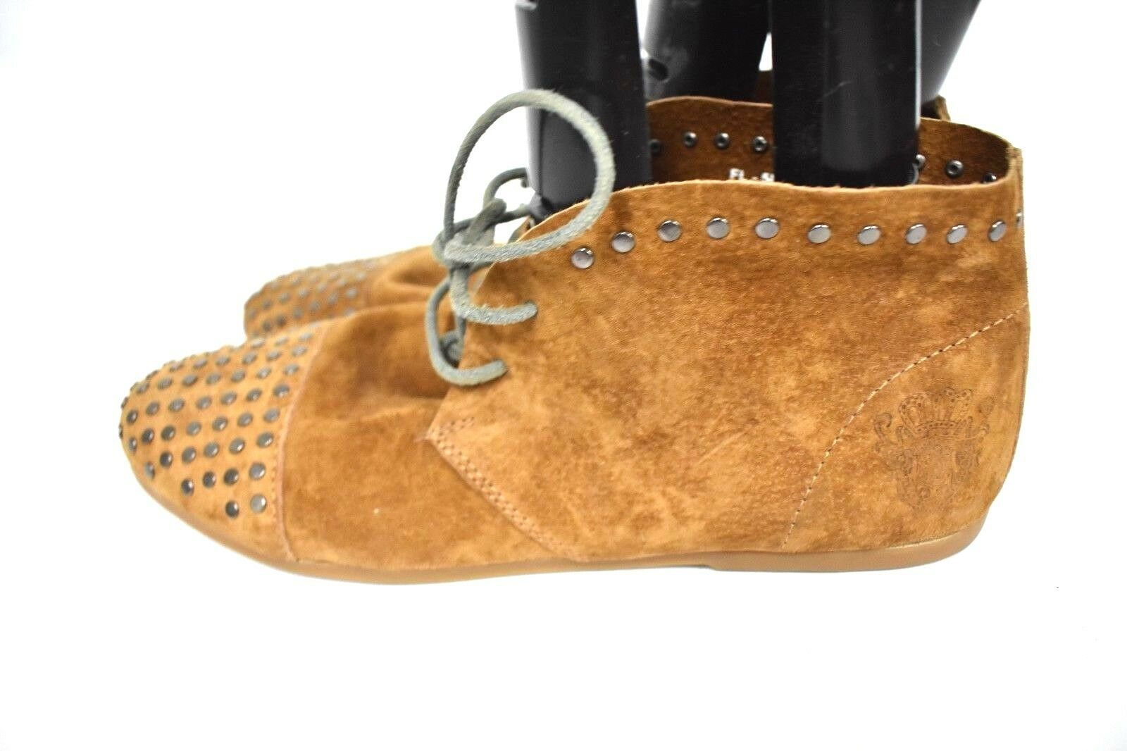 New Blackstone Women's Camel Studded Chukka Boots Booties Suede Size 40-10US