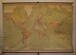 Vecchia scheda crocifissi Mappa del mondo terra Amazing World Map ...