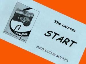 Englisch-Handbuch-fuer-seltene-Sowjetische-Start-SLR-35mm-Film-Kamera-Bedienungsanleitung