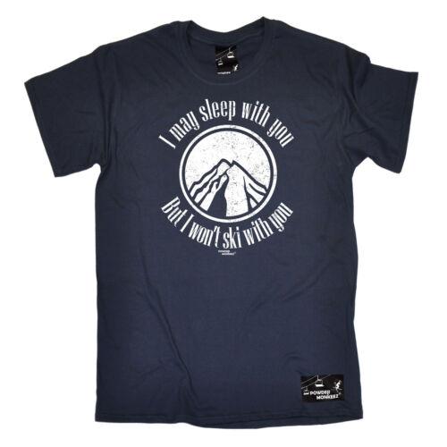 POTREI DORMIRE CON TE da sci da uomo in polvere Monkeez T-shirt Tee Sci Regalo Di Compleanno