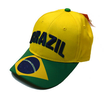 National Soccer Team Licensed Cap Yellow Brazil Hat