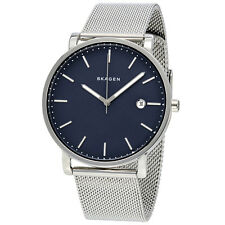 Skagen Hagen Blue Dial Stainless Steel Mesh Mens Watch SKW6327