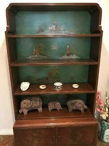 Antique-Chinoiserie-Asian-Art-Deco-Book-Display-Cabinet
