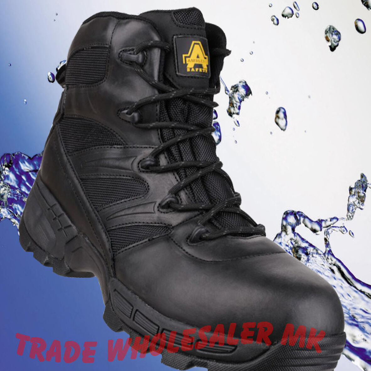 WATERPROOF SAFETY BOOTS PIRANHA WORK BOOTS SAFETY TOE CAP FS410