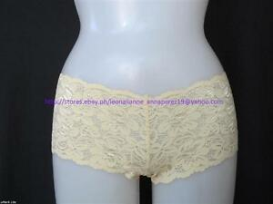 70-off-AUTH-ViCToRia-039-s-SeCReT-ALLOVER-LIGHT-GOLD-LACE-BOYSHORT-PANTY-XSML-10-5