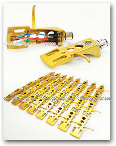 New-35-lot-Exclusive-GOLD-metallic-paint-standard-1-2-039-turntable-phono-headshell