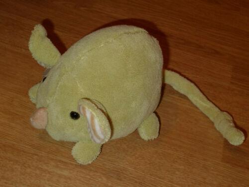 Doudou Peluche Souris Mouse Maus VERT nez beige Histoire D/'ours 18cm grelot evei