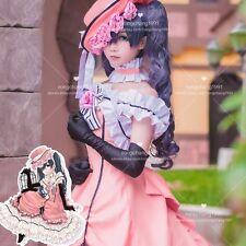 Anime Black Butler Ciel Phantomhive Cosplay Dress Lolita Long Dresses Full Set