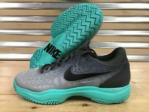 Details about Nike Air Zoom Cage 3 HC Hard Court Tennis Shoes Grey Aurora Teal SZ (918193 001)