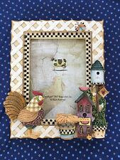 """Wong's Rooster Picture Frame Holds 3.5 """" X 5 """" Picture"""