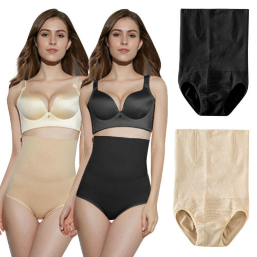 Women High Waist Briefs Shapewear Panty Body Shaper Slim Tummy Underwear LMO
