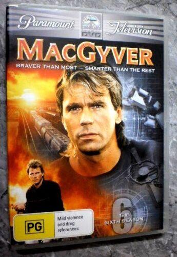 1 of 1 - MacGyver : Season 7 (DVD, Region 4, 6-Disc Set) G6