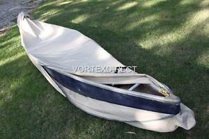 vortex tan beige 10 kayak canoe cover heavy duty marine canvas
