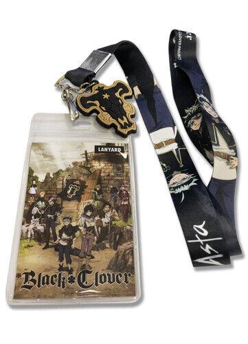 ASTA LANYARD ID CARD HOLDER COLLECTIBLE ANIME LANYARD BLACK CLOVER