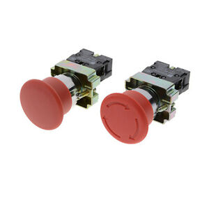 HOT-22mm-NC-Red-Mushroom-Emergency-Stop-Push-Button-Switch-10A-New-Fad-RDUJ