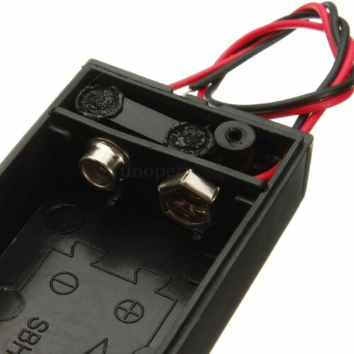 1//2//10x 9V Volt Enclosed Battery Holder Box With ON//OFF Power Switch With Wires