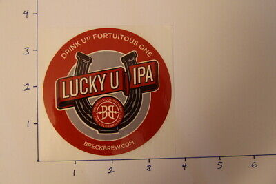 COLORADO Drink Up Fortuitous One LUCKY U IPA Beer STICKER Breckenridge Brewery