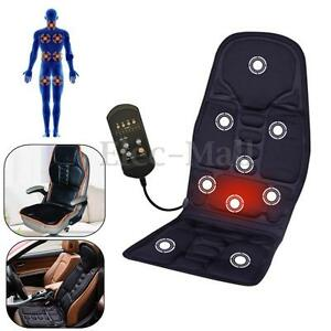 car chair body massage heat mat seat cushion neck pain lumbar support pad back ebay. Black Bedroom Furniture Sets. Home Design Ideas