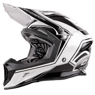 Oneal 10 Series Mx Casco Cahuilla Creek Nero/bianco M Enduro Motocross Moto-mostra Il Titolo Originale