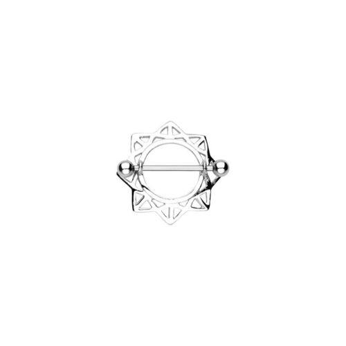 Piercing Téton Bouclier Etoile Triangulaire