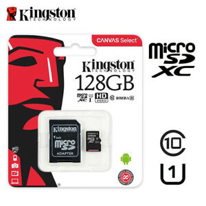 Kingston-80MB-s-128GB-Micro-SD-SDXC-UHS-I-Class10-Memory-Card-w-Tracking-Number
