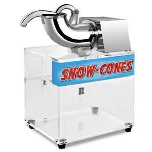 Electric-Snow-Cone-Machine-Ice-Shaver-Maker-Shaving-Crusher-Dual-Blades-New