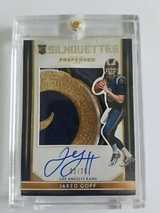 Jared-Goff-2016-Panini-TRUE-RPA-Auto-Huge-SICK-Patch-RC-SP-02-25-Rookie-RAMS