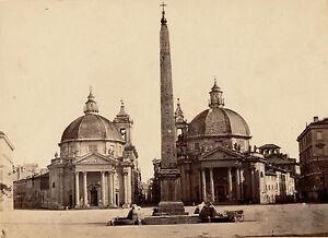 Rome C. 1870 - Piazza Del Popolo Italie - 46 Saveur Pure Et Douce
