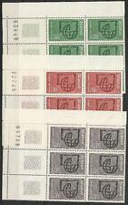 Frankreich-UNESCO aus 1966 ** postfrisch MiNr.6-8 mit Bogenrandnummer!