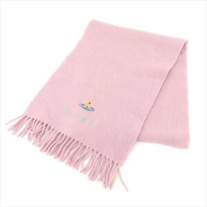 Vivienne-Westwood-Scarf-Orb-Pink-Silver-Woman-Authentic-Used-L2476