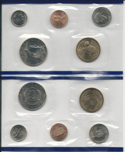 2000 US Mint 20-Coin Set Uncirculated w// State Quarters Mints: D/&P -SHIPS FREE!