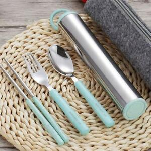 Travel-Tableware-Set-Spoon-Chopsticks-Fork-Stainless-Steel-Portable-Cutlery-Case