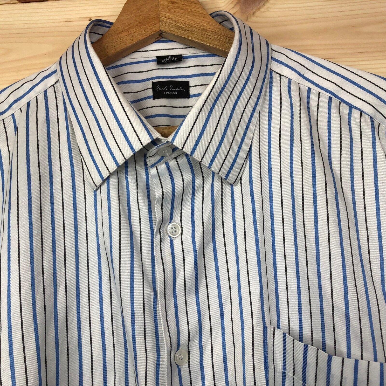 06f5fd3c53e Paul Smith Multi Stripe Shirt 18 RRP + White navlgx4903-Casual ...