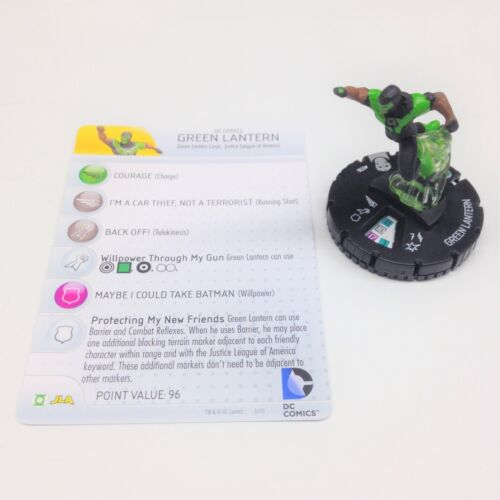 Heroclix Justice League Trinity War set Green Lantern #036 Rare figure w/card!